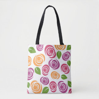 Tote Bag Floral Pattern