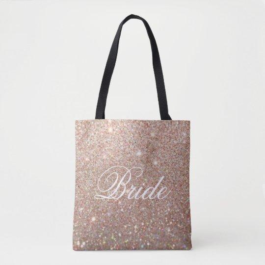 Tote Bag - Gold Glitter Fab Bride