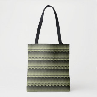 Tote Bag Green Marbled
