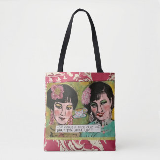 Tote bag, how about Alice cup of shut the h—