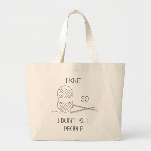 tote bag knitting XL