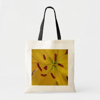 Tote Bag Lis jaune vibrant