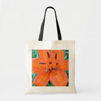 Tote Bag Lis orange avec des baisses de l'eau