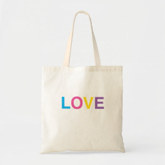 Tote Bag, LOVE, in Colorful Letters