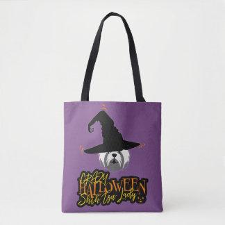 Tote Bag Madame folle Shih Tzu Mom de Halloween Shih Tzu