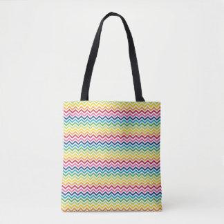 Tote Bag - Multi Coloured Zigzag 3