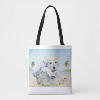 Tote Bag,  My Lab Loves the Beach!