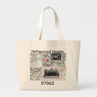 Tote, bag, netherwood heights, plainfield large tote bag