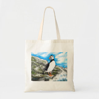 Tote bag: puffins Paradise