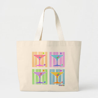 Tote Bag - Retro Pop Art Martinis