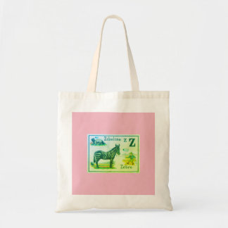 Tote Bag W/ FRENCH ALPHABET ILLUSTRATION