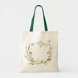 Tote Bag 'Wildflower Wreath' Design