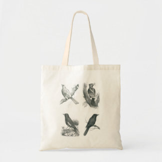 Tote Bag with 4 Cambodian Birds by Vannak Prum