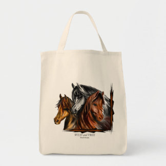 Tote bag with a southewestern horse design