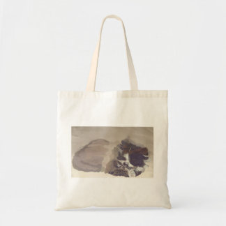 Tote bag with adorable 3 color cat drawing