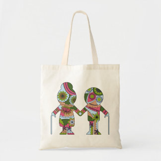 Tote bag with aged couple