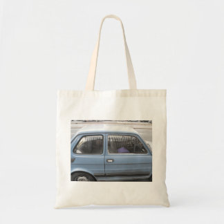 Tote Bag with Blue Car