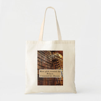 Tote bag with book fairy tale quote
