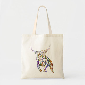 Tote bag with bull