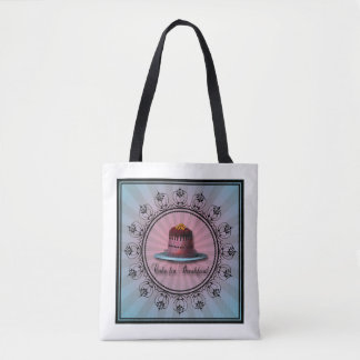 tote bag, with Cake for Breakfast theme!