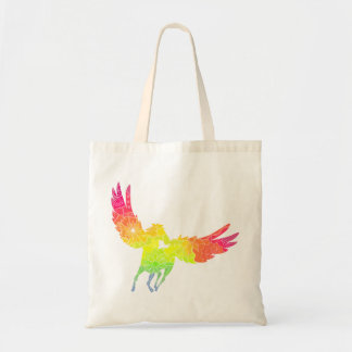 Tote bag with colorful pegasus