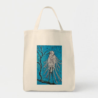 Tote Bag with Egret