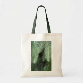 Tote Bag with Fern Motif