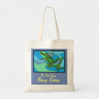 Tote bag with frog