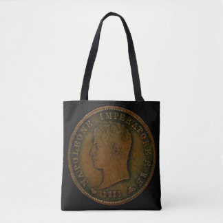 Tote Bag with Images of a Napolean Coin from 1813