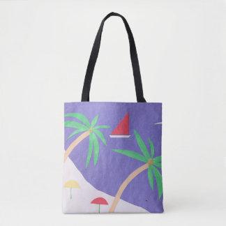 Tote Bag with Island Scene
