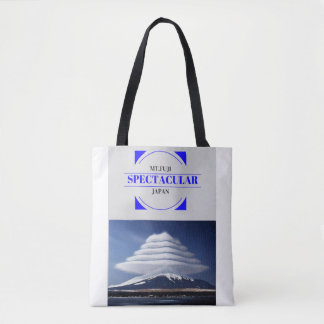 Tote bag with Lenticular Clouds Design