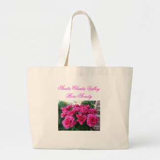 Tote Bag with Pink Roses