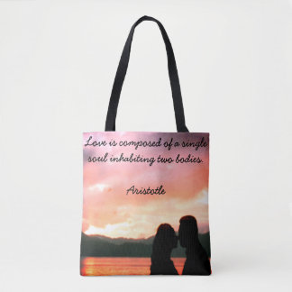 Tote Bag with quote from Aristotle