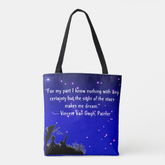 Tote Bag with quote from Vincent Van Gogh