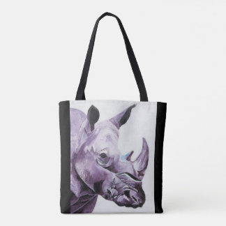 Tote bag with rhino design