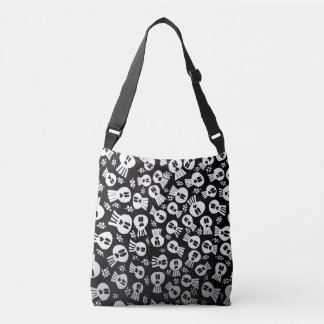 Tote bag with skulls
