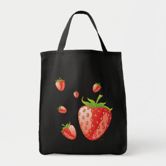 Tote Bag with Strawberries