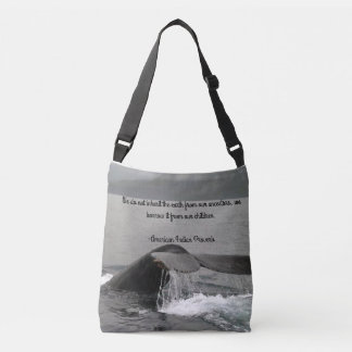 Tote Bag with Whale and Indian Proverb