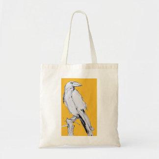 tote bag - yellow raven