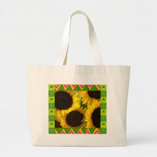 Tote Bag :: Yellow Sunflowers with artistic border