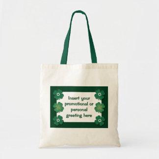 Tote bags customizable - shamrocks