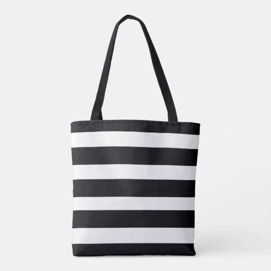 Tote Bags Shopping Carry Bag Black White Stripes