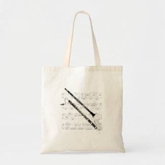 Tote - Clarinets and sheet music Budget Tote Bag