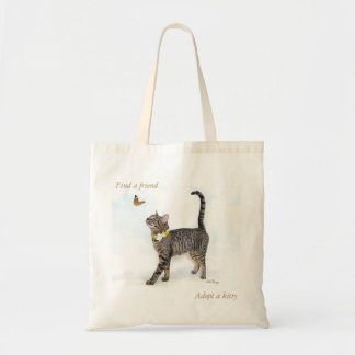 Tote featuring Tabatha, the tabby