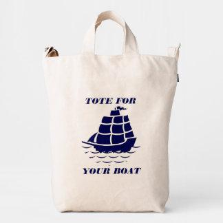 Tote For Your Boat Blue Boat Illustration