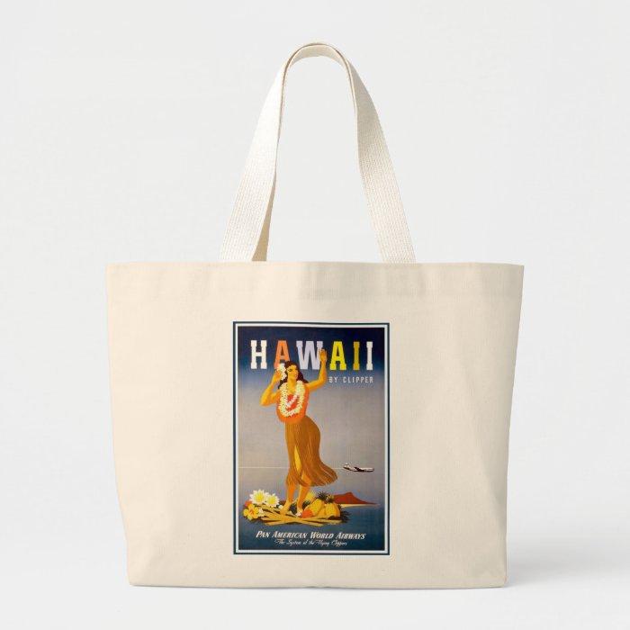 Tote-Hawaii Vintage Advertisement Large Tote Bag