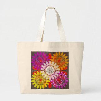 TOTE JUMBO DIY flowers Treasure Colorful Jumbo Tote Bag