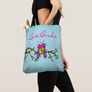 TOTE - LOVE BIRDS - PERSONALIZE NAMES