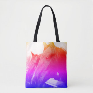 Tote - Rainbow Horse and Blue