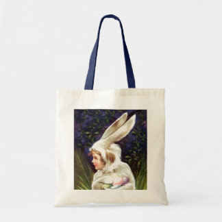Tote Treat Vintage Easter Bunny Egg Hunt Gift Bag